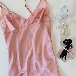 Victoria's Secret Rose Pink Lace Chemise Slip